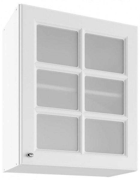 Modul Bella bianco super mat - UOWS 60 - zgornja steklena omarica s polico