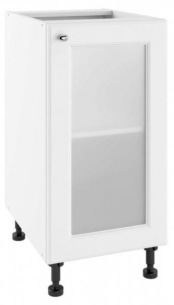 Modul Bella bianco super mat - POW 40 - spodnja steklena omarica s polico