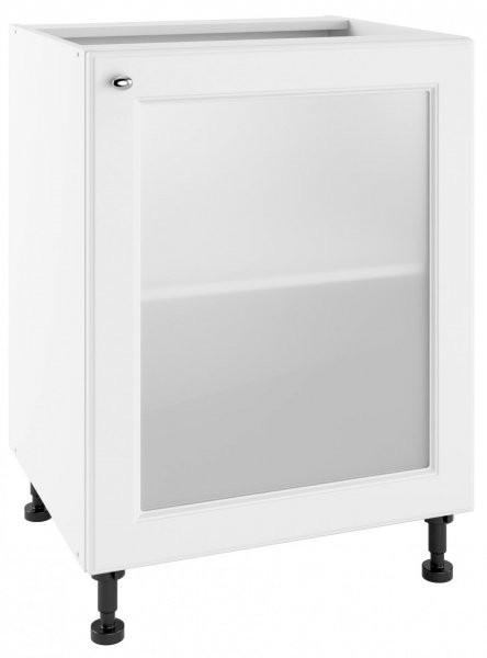 Modul Bella bianco super mat - POW 60 - spodnja steklena omarica s polico