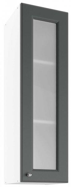 Modul Bella graphite super mat  - UHOW 30 - zgornja steklena omarica z dvema policama