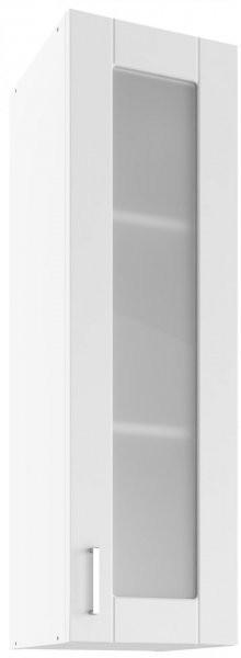 Modul Milano bianco super mat  - UHOW 30 - zgornja steklena omarica z dvema policama
