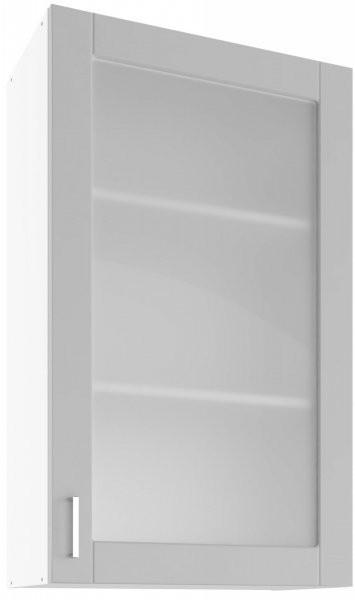 Modul Milano nube super mat  - UHOW 60 - zgornja steklena omarica z dvema policama