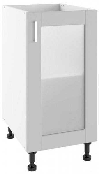 Modul Milano nube super mat - POW 40 - spodnja steklena omarica s polico