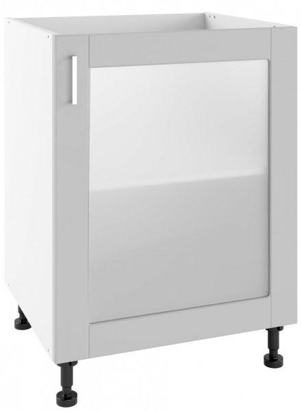 Modul Milano nube super mat - POW 60 - spodnja steklena omarica s polico