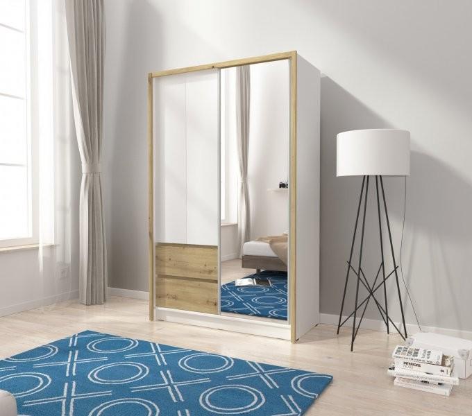 Garderobna omara z drsnimi vrati Sara 130
