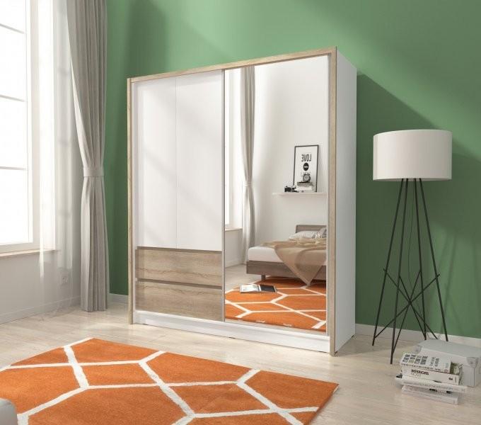 Garderobna omara z drsnimi vrati Sara 180