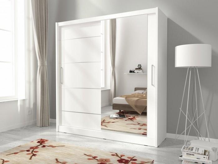 Garderobna omara z drsnimi vrati Maja I Alu 200
