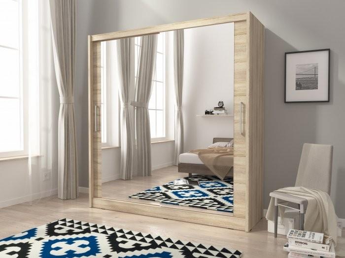 Garderobna omara z drsnimi vrati Maja VI 200