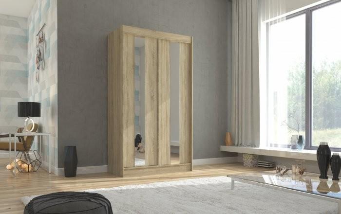 Garderobna omara z drsnimi vrati Balton - 120 cm