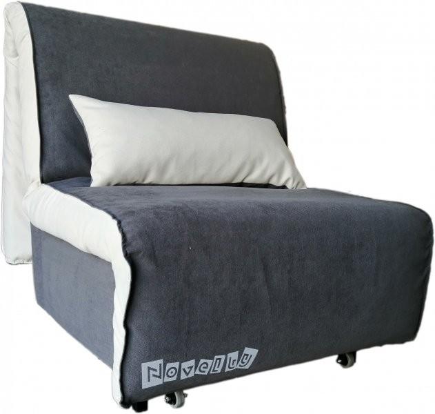 Fotelj z ležiščem Novelty - dark grey