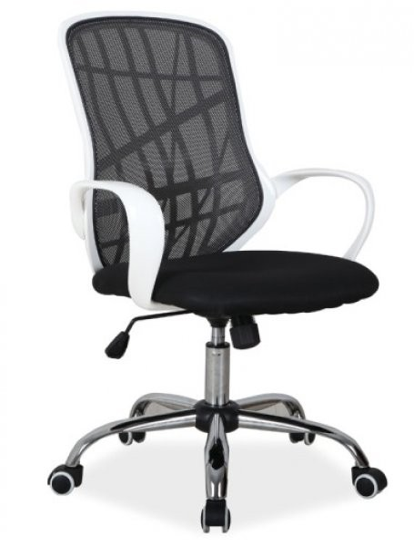 Pisarniški stol Dexter - črn/bel
